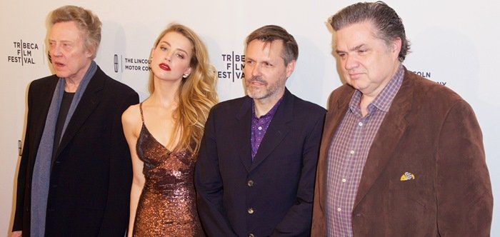 Christopher Walken, Danny Fischer, Amber Heard, Oliver Platt at the premiere of When I Live My Life Over Again during the 2015 Tribeca Film Festival