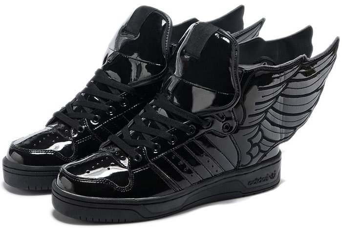 "adidas originals x Jeremy Scott ""Wings 2.0"" Sneakers in Black"