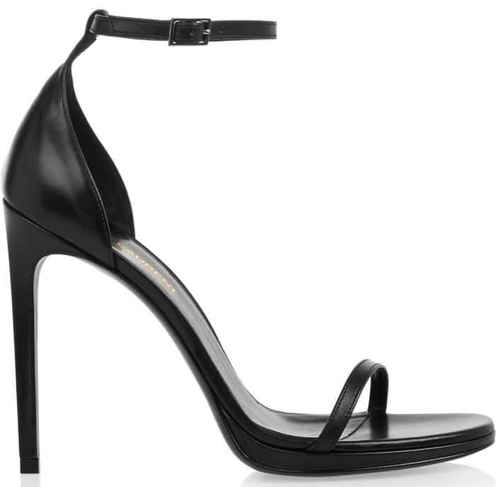 saint laurent jane sandals black