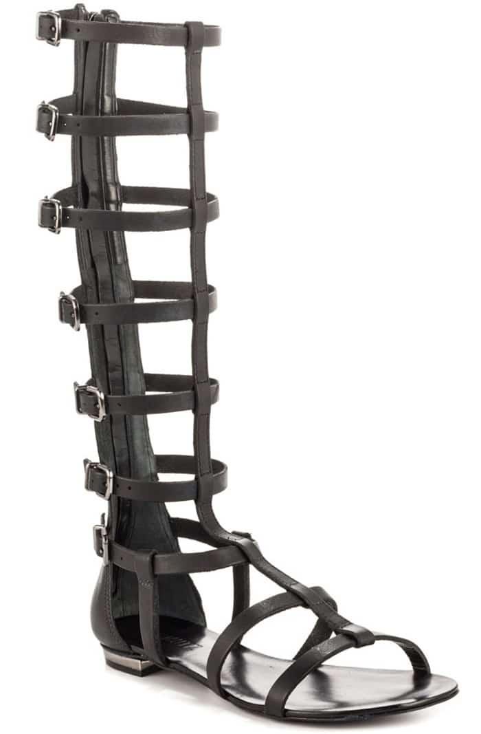 Schutz Gladiator Sandals in Black