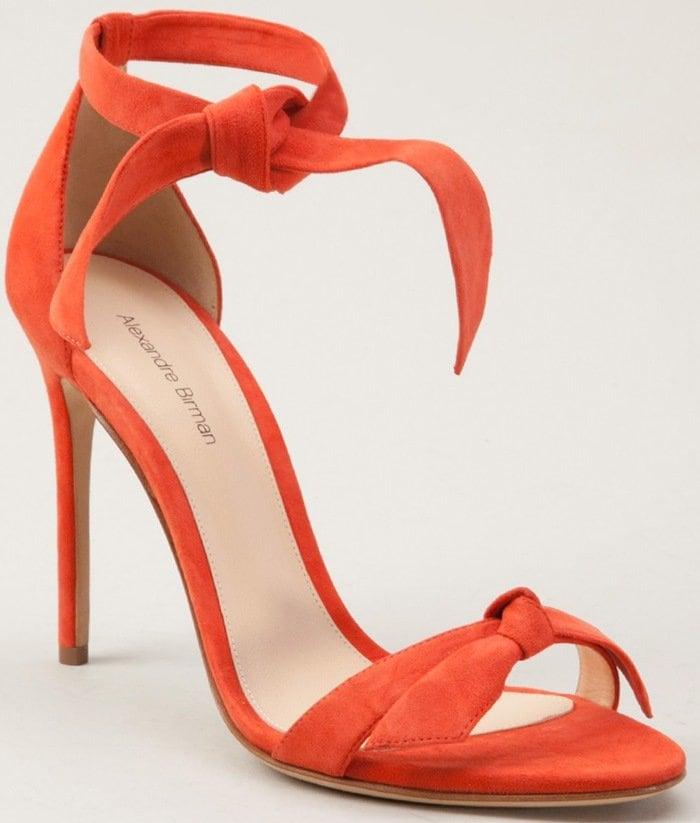 Alexandre Birman Orange 'Clarita' Sandals