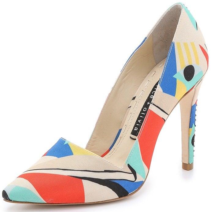 Alice Olivia Multicolor Dina Colorblock Pumps - Multi