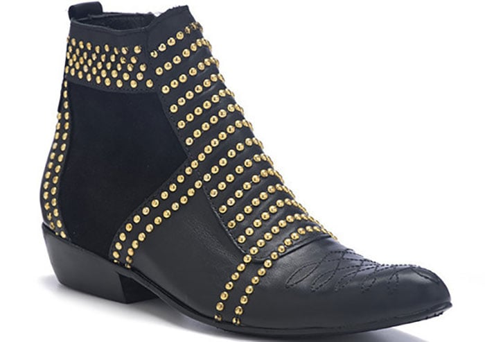 """Anine Bing """"Charlie"""" Boots With Gold Studs"""