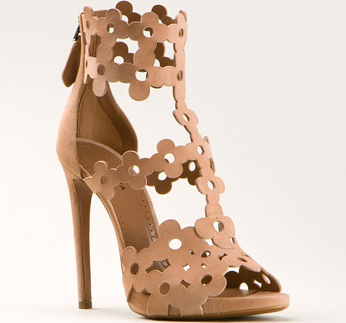 Azzedine Alaia Floral-Cutout Sandals
