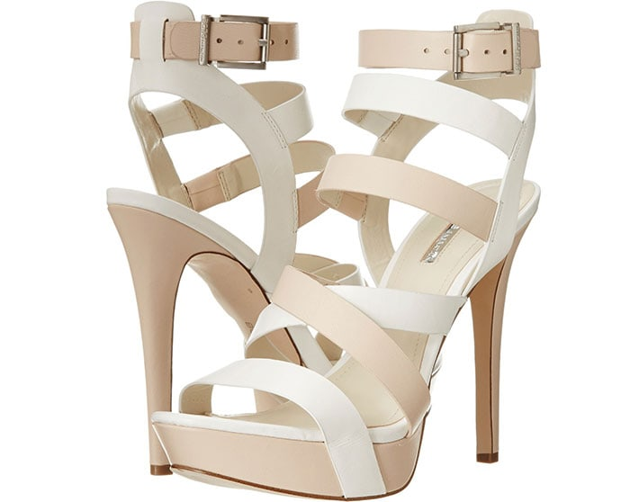 Mystic Sandals in White/Nude Blush