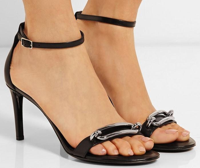 Balenciaga Embellished Leather Sandals