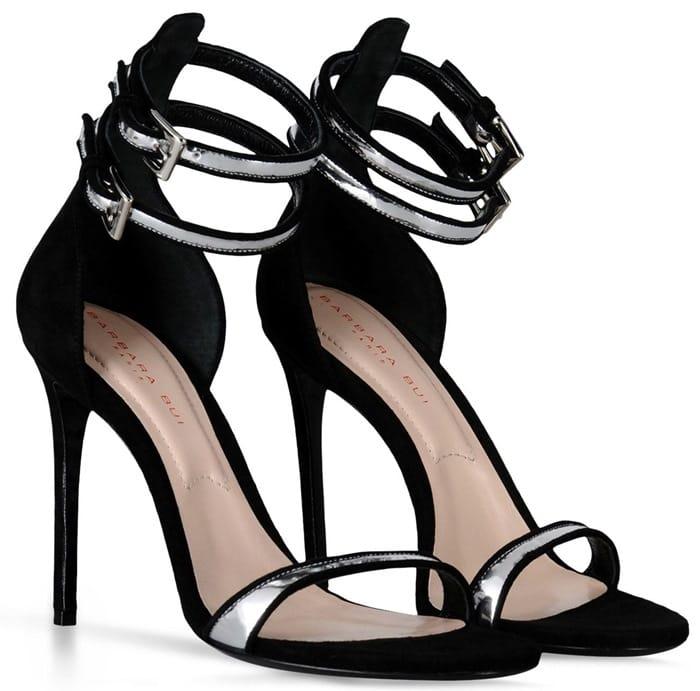 Barbara Bui Mirrored Leather Sandals