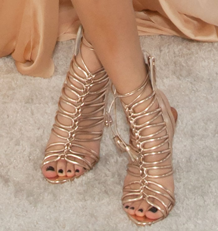 Becky-G-Sophia-Webster-Lacey-Cage-ankle-tie-sandals