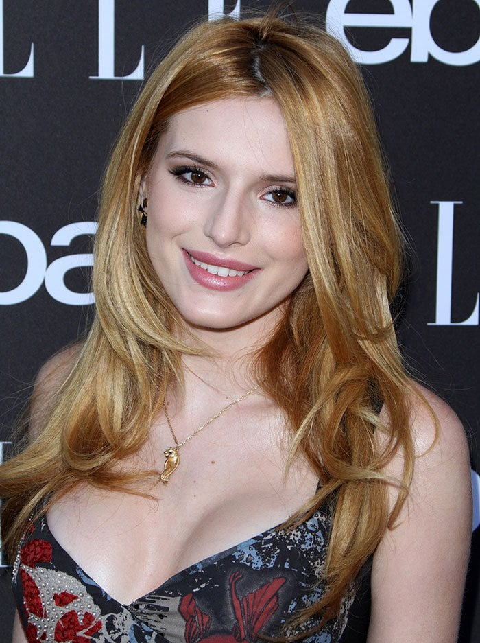 Bella Thorne's blow-dried locks and soft makeup