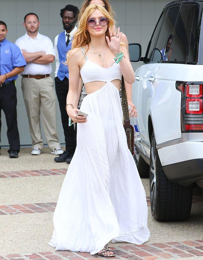 Bella Thorne Strips Down To Her Bikini At Joel Silver S