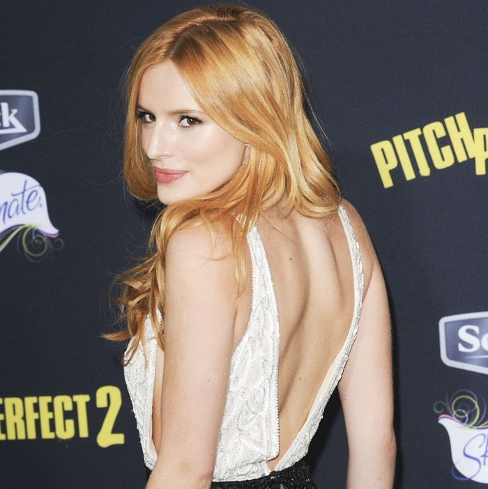 2a5126e5848 17-Year-Old Bella Thorne in Daring Playsuit and Stuart Weitzman Sandals