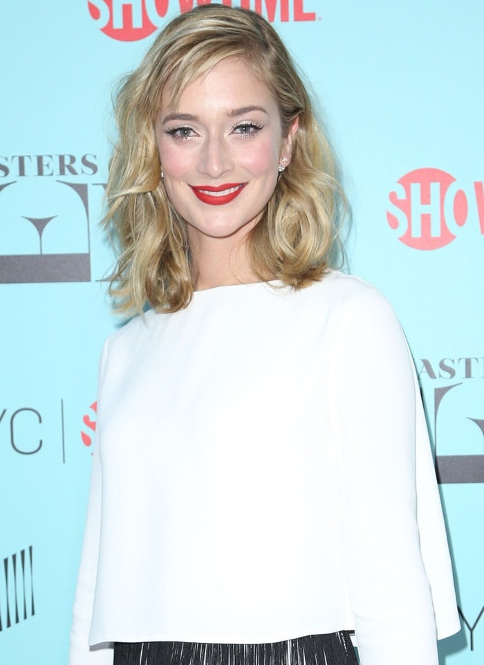 Caitlin Fitzgerald at the season three screening of her hit show Masters Of Sex