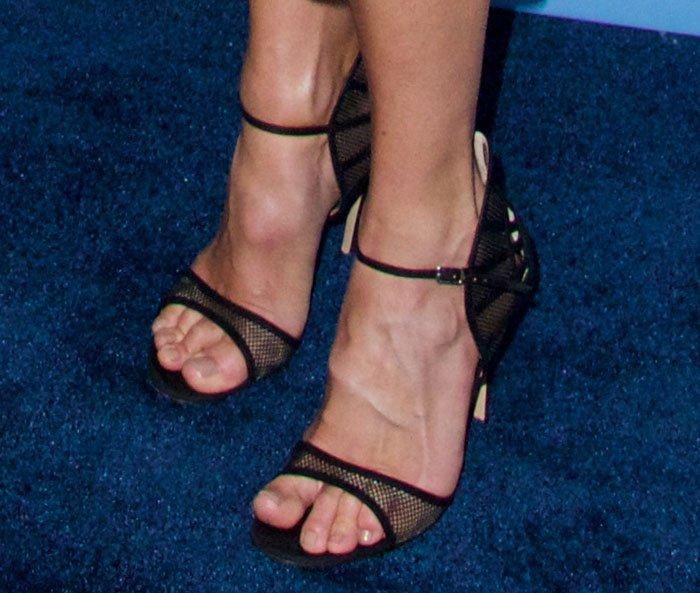Cat Deeley's hot feet in Gianvito Rossi sandals