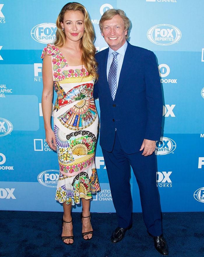 Cat Deeley andNigel Lythgoeat the Fox 2015 programming presentation