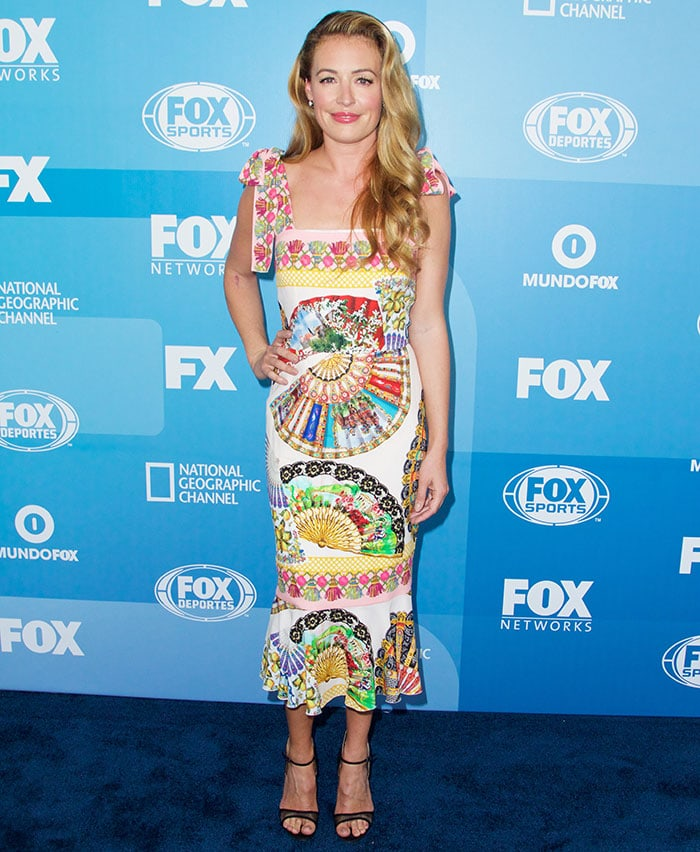Cat Deeley defined spring in her colorful foulard dress