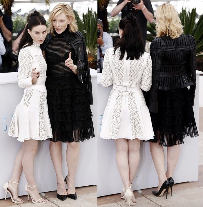 Cate Blanchett and Rooney Mara paraded their endless legs