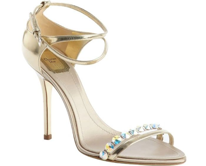 Christian Dior Crystal-Detail Strappy Sandals