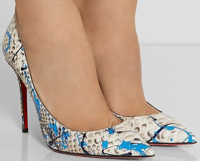 Christian Louboutin Decollete 100 painted python pumps