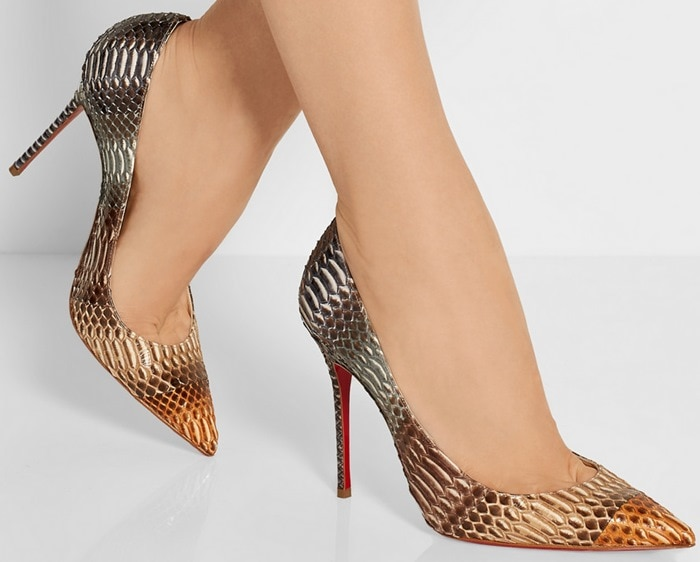 Christian Louboutin Decollete 100 snake pumps