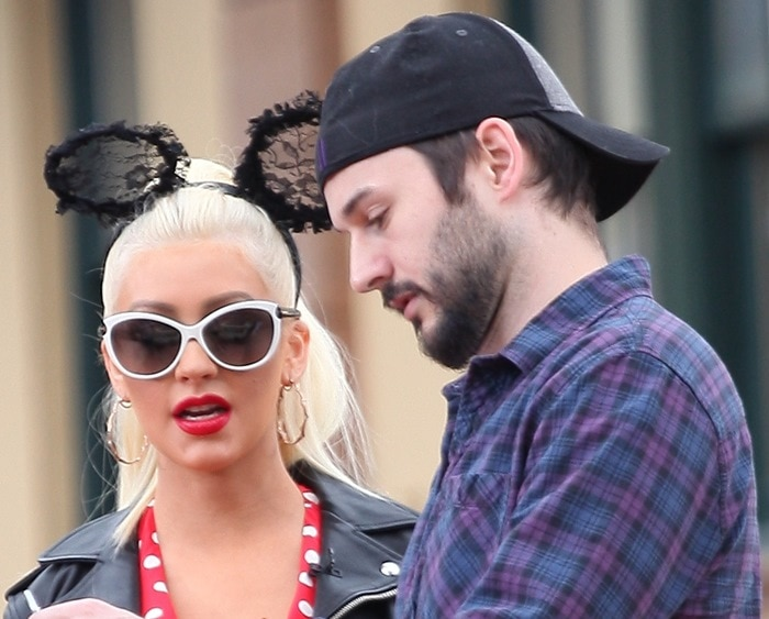 Christina Aguilera pictured with Matthew Rutler at the second happiest place on Earth