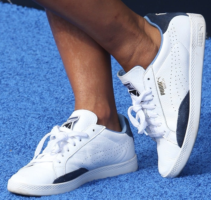 Christina Milian's classic white Match Low sneakers from Puma