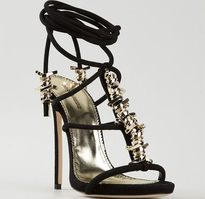 """DSquared2 """"Babe Wire"""" Sandals in Black"""