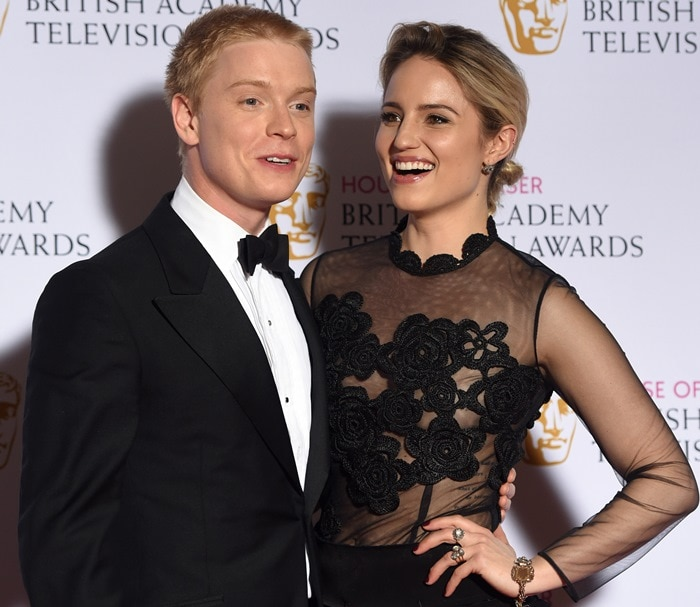 Dianna Agron and Freddie Fox at the 2015 House of Fraser British Academy (BAFTA) Television Awards