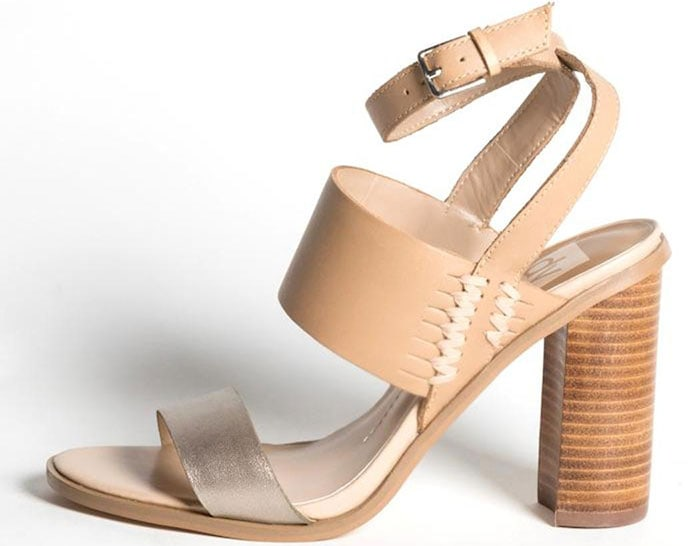 Dolce Vita Triple Strap Wood Stacked Heels