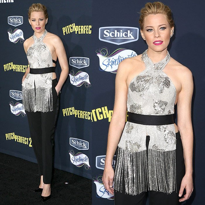 """Elizabeth Banks at the """"Pitch Perfect 2"""" premiereat the Nokia Theatre L.A. Live in Los Angeles, California, on May 8, 2015"""