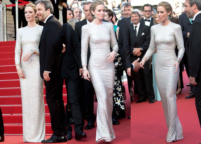 Emily Blunt showed off her flattering Stella McCartney gown on the red carpet
