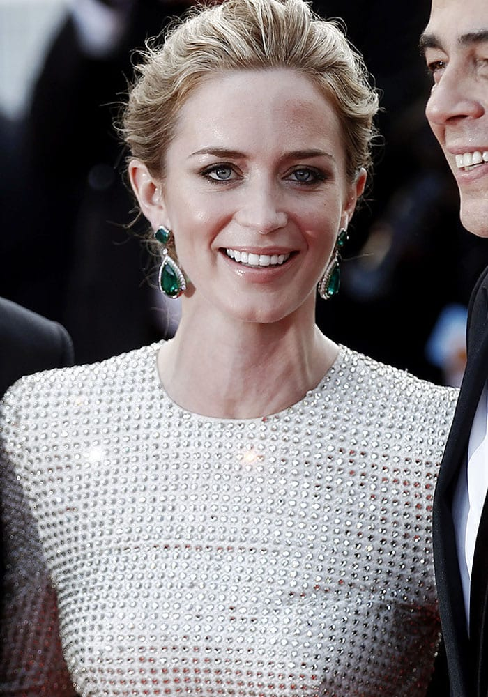 """Emily Blunt attends the """"Sicario"""" premiere at the 2015 Cannes Film Festival"""