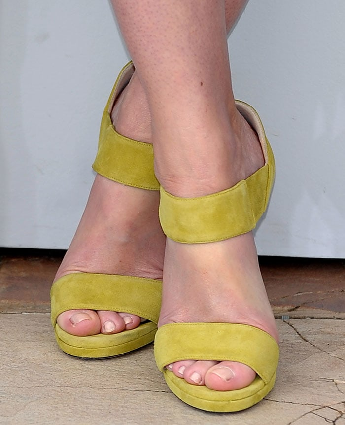 Emily Blunt in yellow Jimmy Choo sandals