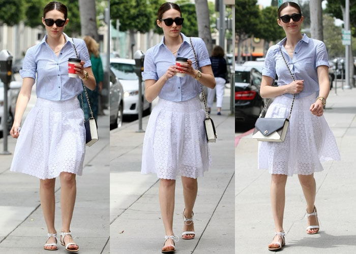 Emmy Rossum has her own strong sense of street style