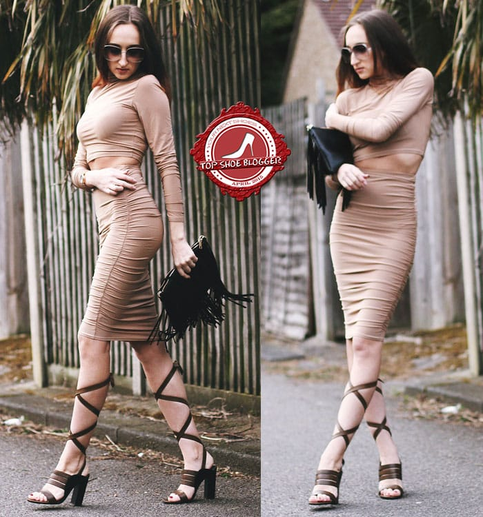 Gabriele's sexy two-piece bodycon dress