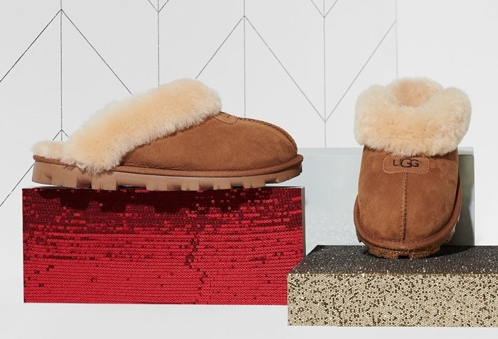 An incredibly plush, genuine shearling lining creates superior softness in a comfy, cozy Coquette slipper