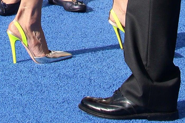 Amal Clooney's feet in Giambattista Valli pumps
