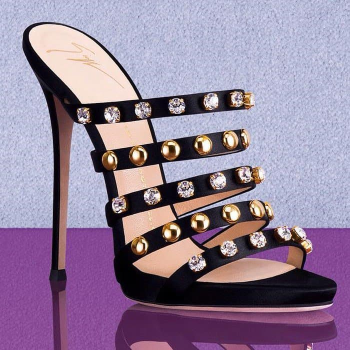 Giuseppe Zanotti 'Camilla' Mules With Crystals and Studs