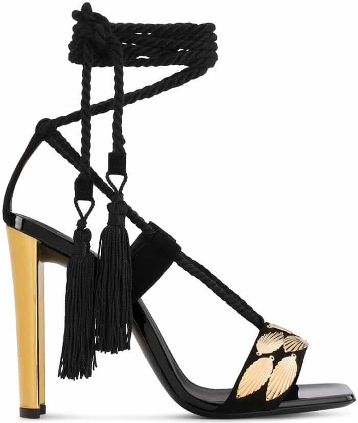 Giuseppe Zanotti 'Danielle' Shoes With Leaf Accessories