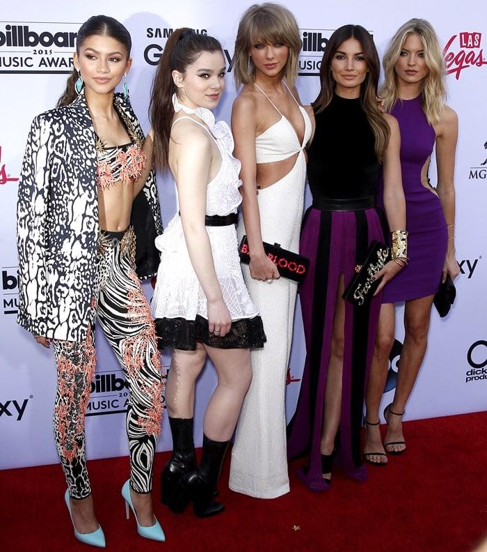 Zendaya Coleman, Hailee Steinfeld, Taylor Swift, Martha Hunt, Lily Aldridge at the 2015 Billboard Music Awards