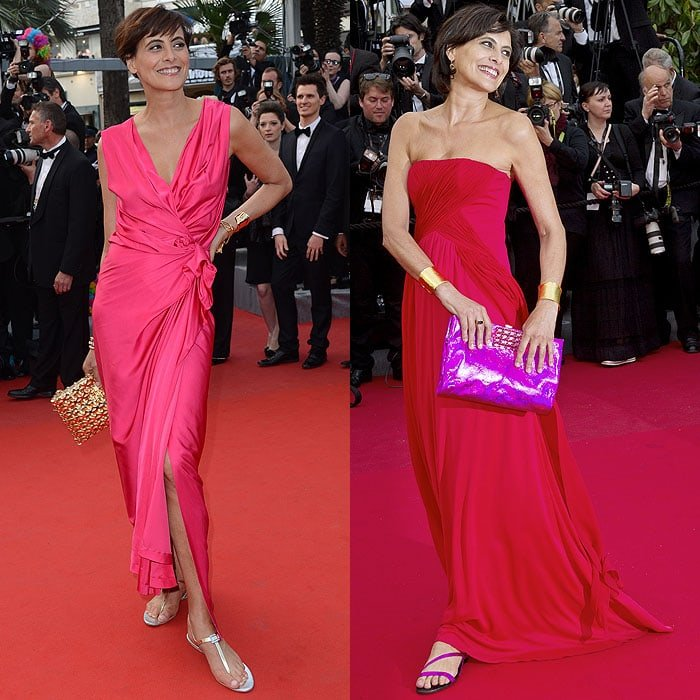 "Inès de La Fressange at the ""Madagascar 3: Europe's Most Wanted"" premiere at the 65th Cannes Film Festival in Cannes, France, on May 18, 2012; At ""The Bling Ring"" premiere at 66th Cannes Fim Festival in Cannes, France, on May 16, 2013"