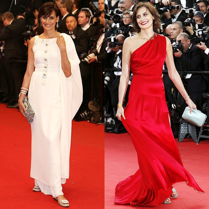 "Inès de La Fressange at ""The Great Gatsby"" premiere at 66th Cannes Fim Festival in Cannes, France, on May 15, 2013; At the ""How to Train Your Dragon 2"" premiere at the 67th Annual Cannes Film Festival in Cannes, France, on May 16, 2014"