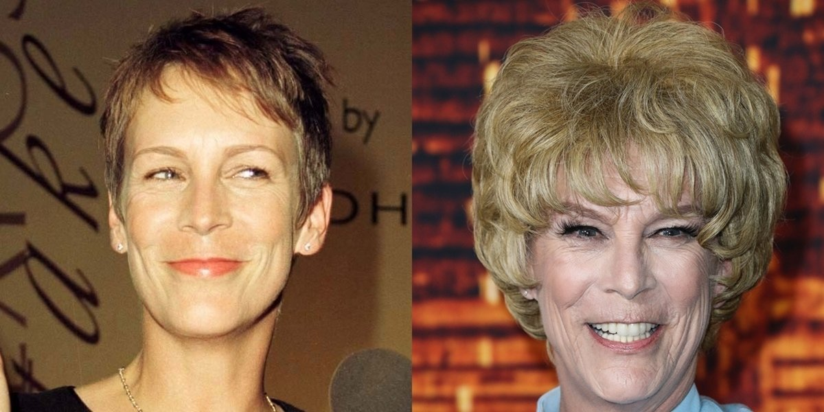 Pictured in 1999 and 2021, Jamie Lee Curtis is critical of plastic surgery