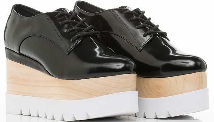 Jeffrey Campbell Berliner Wood Platform Oxfords