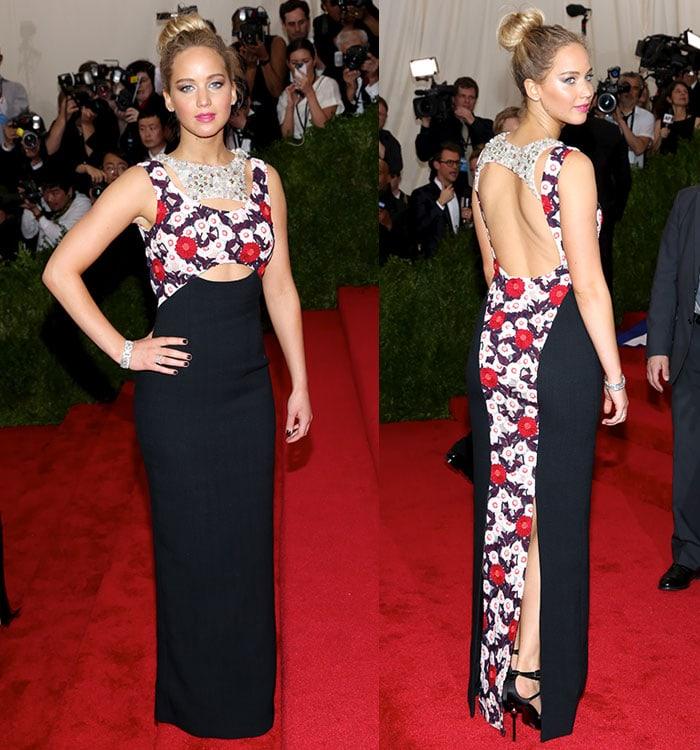 Jennifer-Lawrence-Dior-gown-Roger-Vivier-sandals-MET-Gala
