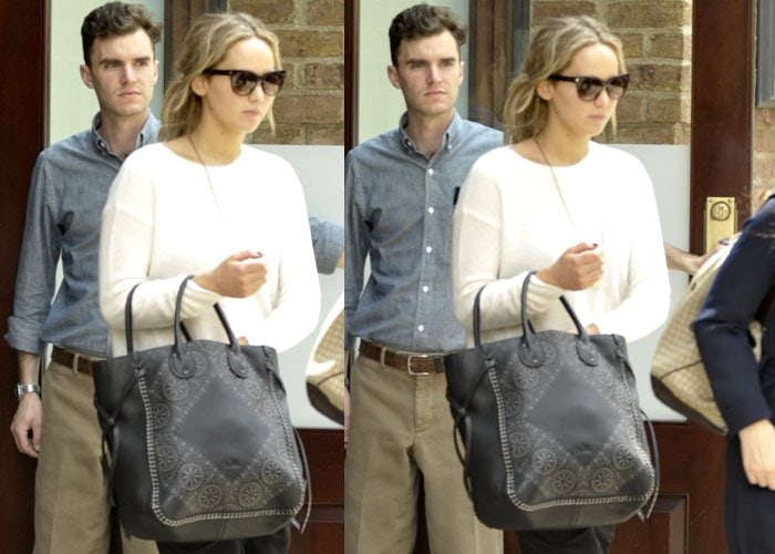 Jennifer Lawrence toted a printed Coach bag