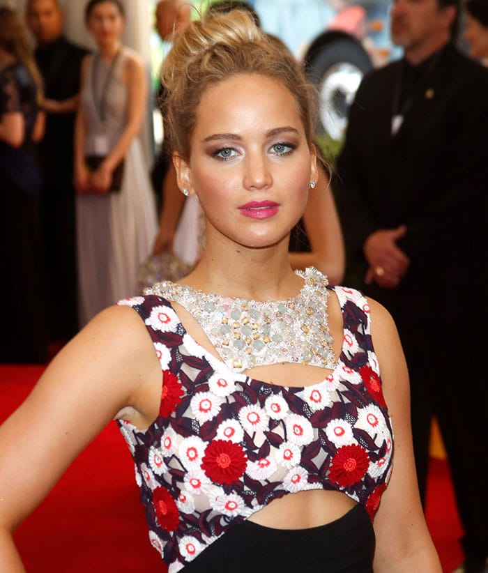 """Jennifer Lawrence at the """"China: Through the Looking Glass"""" Costume Institute Benefit Gala"""