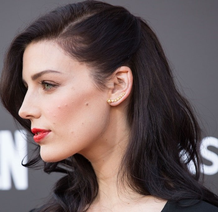 Jessica Pare at the Film Independent at LACMA for a special screening of the final episode of Mad Men