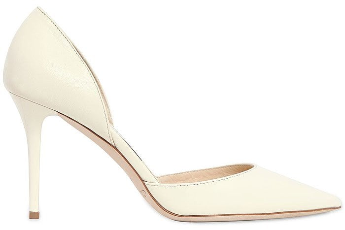 Jimmy Choo Addison d'Orsay Pumps in White Leather