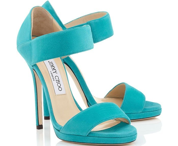 Lee Sandals in Turquoise Suede