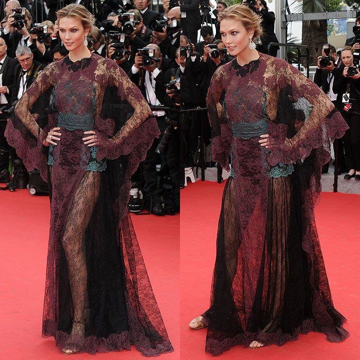 "Karlie Kloss at the ""Grace of Monaco"" premiere and opening ceremony of the 67th Annual Cannes Film Festival in Cannes, France, on May 14, 2014"